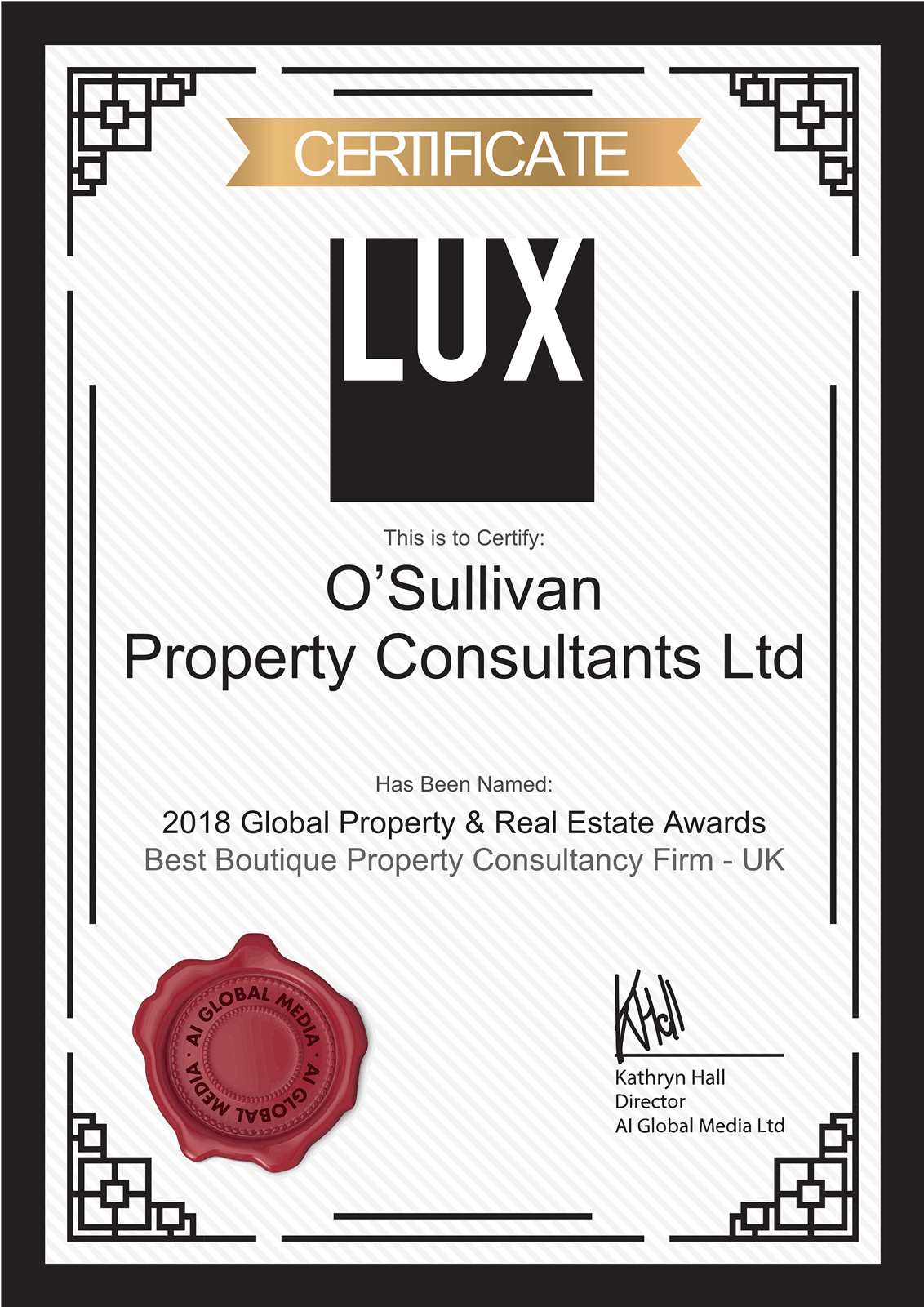 O'Sullivan Property Consultants Best Boutique Property Consultancy Firm