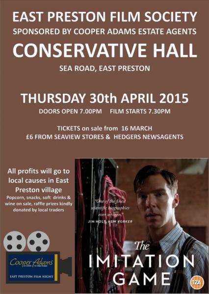 East Preston Film Night sponsored by Cooper Adams Estate Agents presents – The B