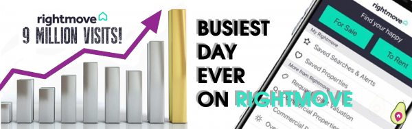 Rightmoves BUSIEST DAY EVER!