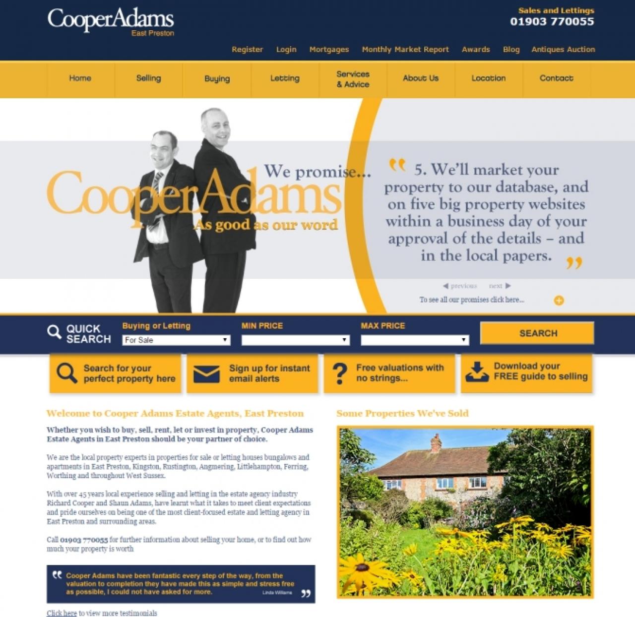 >Cooper Adams shiny new website