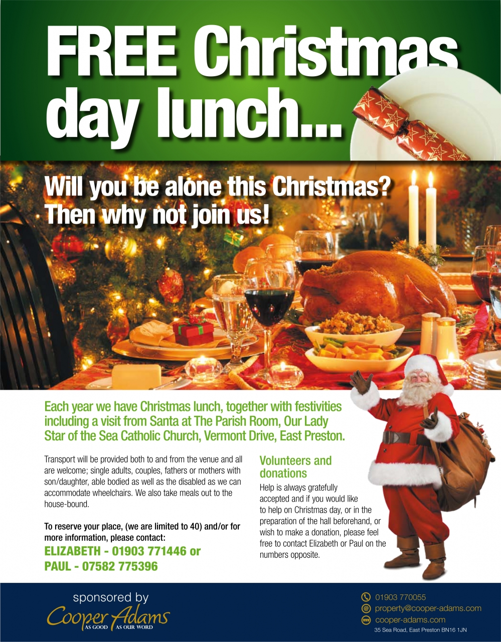 Free Christmas day lunch...