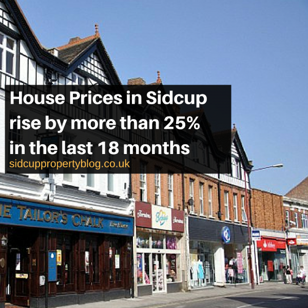 House Prices in Sidcup rise by more than 25% in the last 18 months