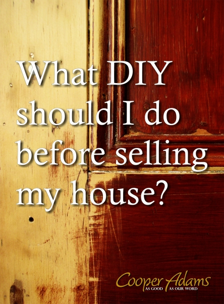 What DIY should I do before selling my house?