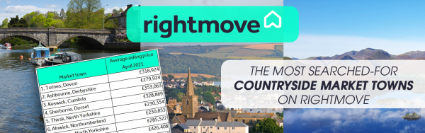 The most searched for market towns on Rightmove