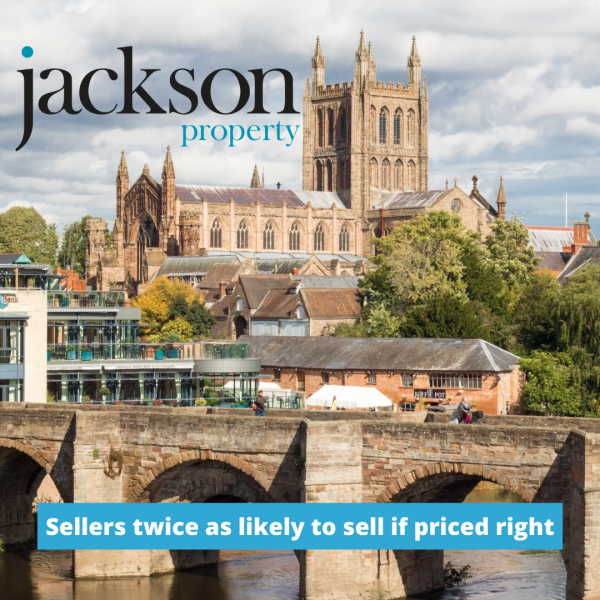 Sellers twice as likely to sell if priced right first time!