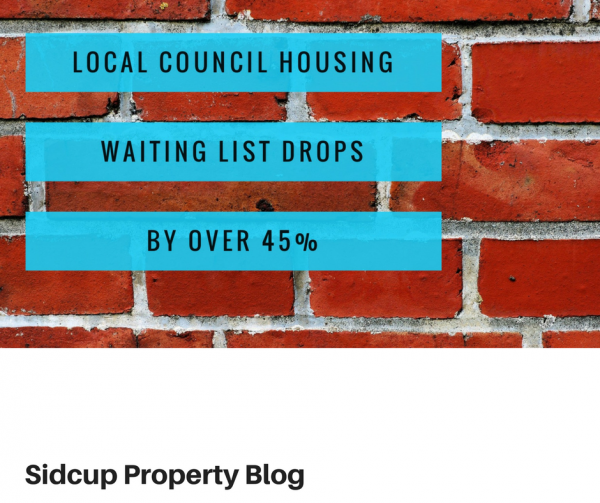 Council House Waiting List in Sidcup Drops by 48.6% in last 4 years