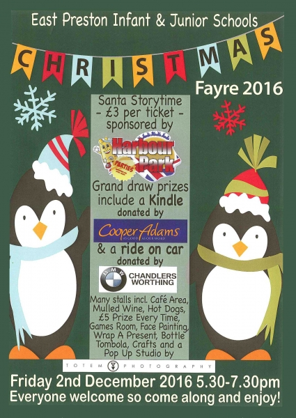 East Preston Infant & Junior Schools Christmas Fayre 2016