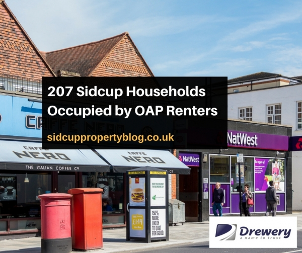 207 Sidcup Households Occupied by OAP Renters