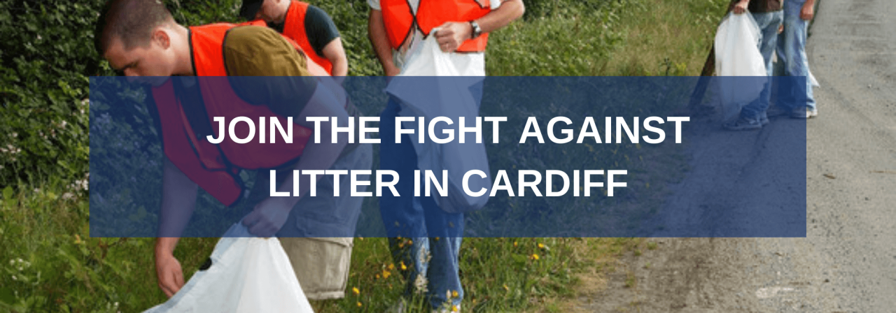 >Join the Fight Against Litter in Cardiff