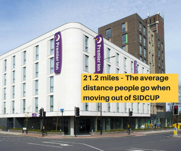 21.2 miles – The average  distance people go when moving out of SIDCUP