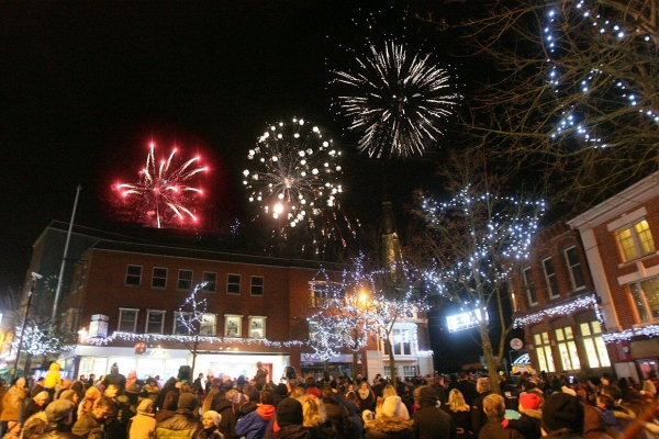 Hinckley Christmas Lights Switch-on and Tin Hat Fair 2021