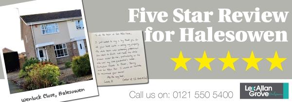 Five Star Review for Halesowen Office
