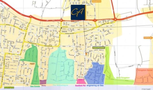 Private estates around East Preston