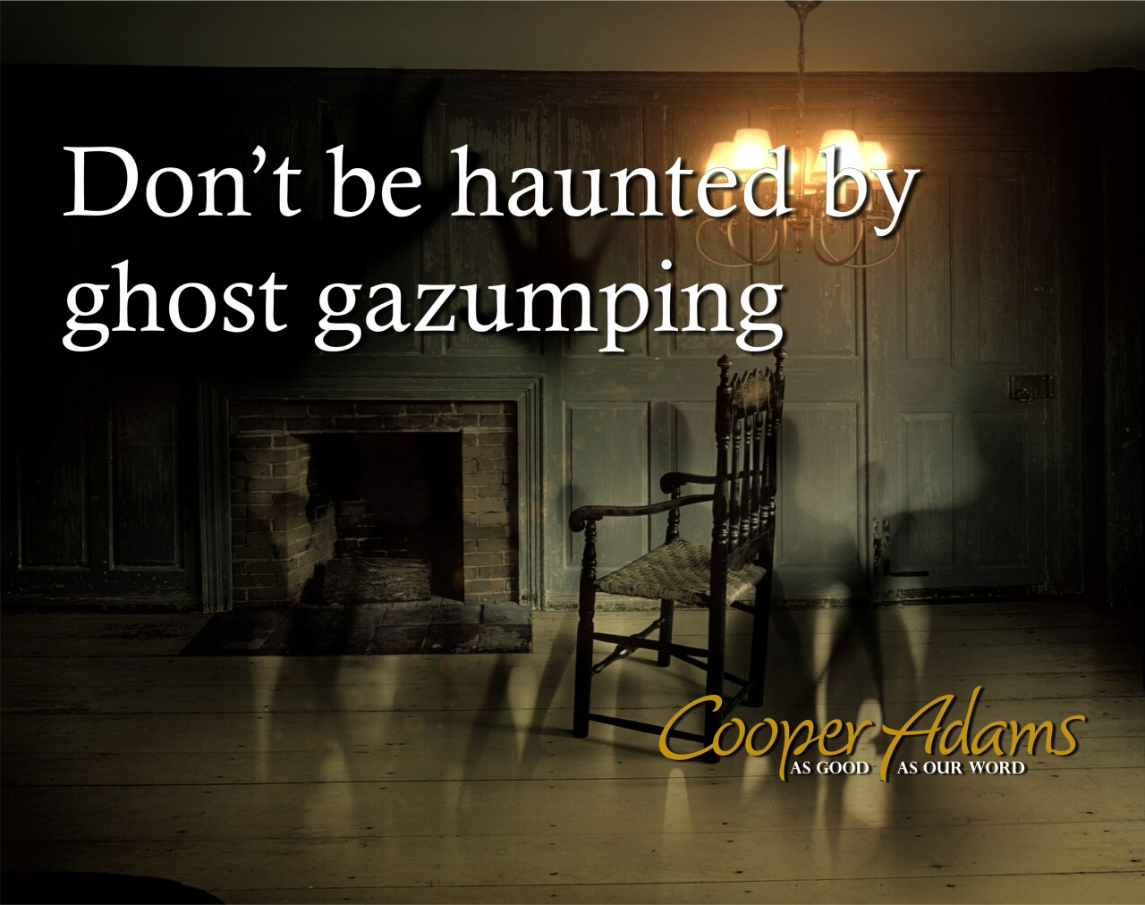 Don't be haunted by ghost...