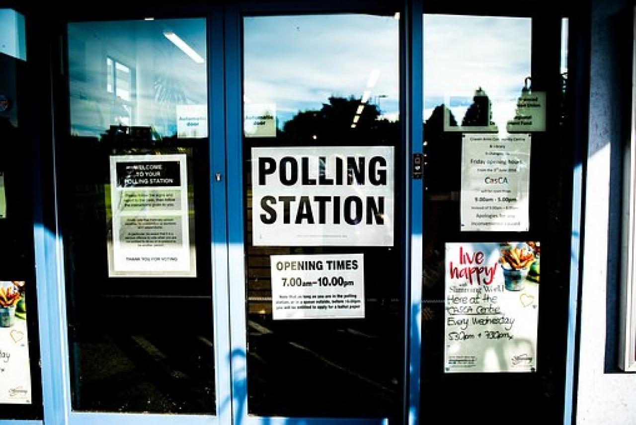 >Polling Station Doors