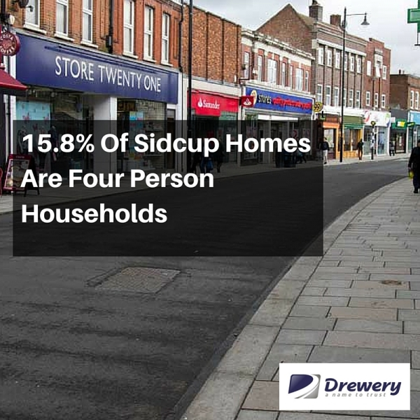 15.8% Of Sidcup Homes Are Four Person Households