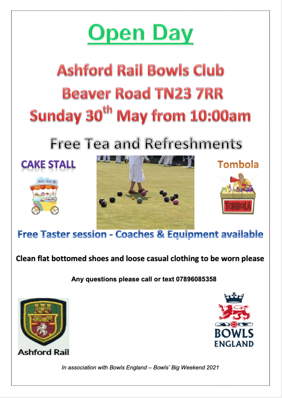 >Bowls open day this weekend!