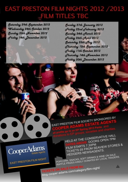 East Preston Film night dates 2012 - 2013