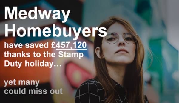 Medway Homebuyers Have Saved £457,120 Thanks to the Stamp Duty Holiday-