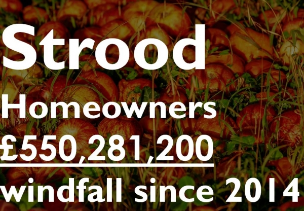 Strood Homeowners £550,281,200 Windfall Since 2014