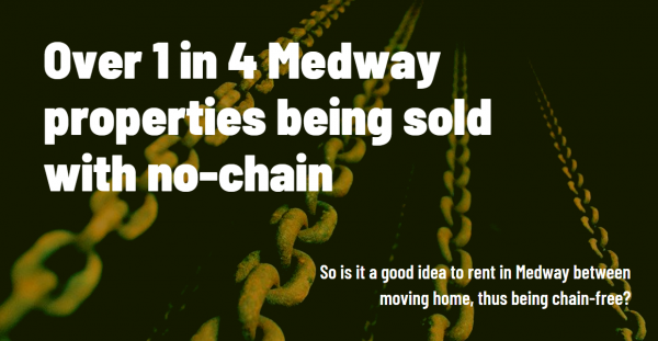 Over 1 in 4 Medway Properties Being Sold with No Chain