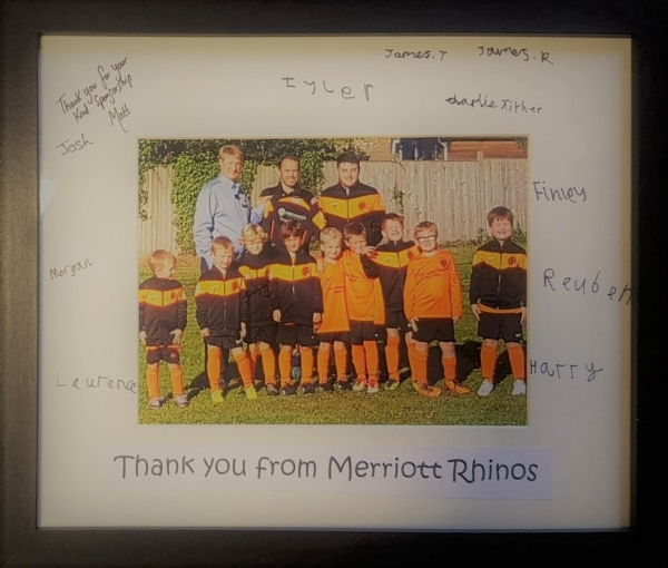 merriott rhinos football club sponsors