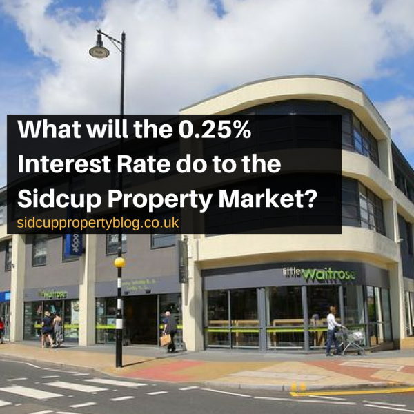 What will the 0.25% Interest Rate do to the Sidcup Property Market?
