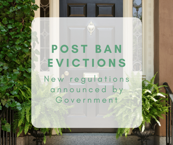 Post Ban Evictions: New Regulations announced