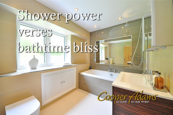 Shower power versus bathtub bliss