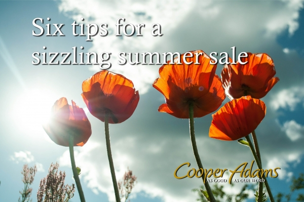 Six tips for a sizzling summer sale