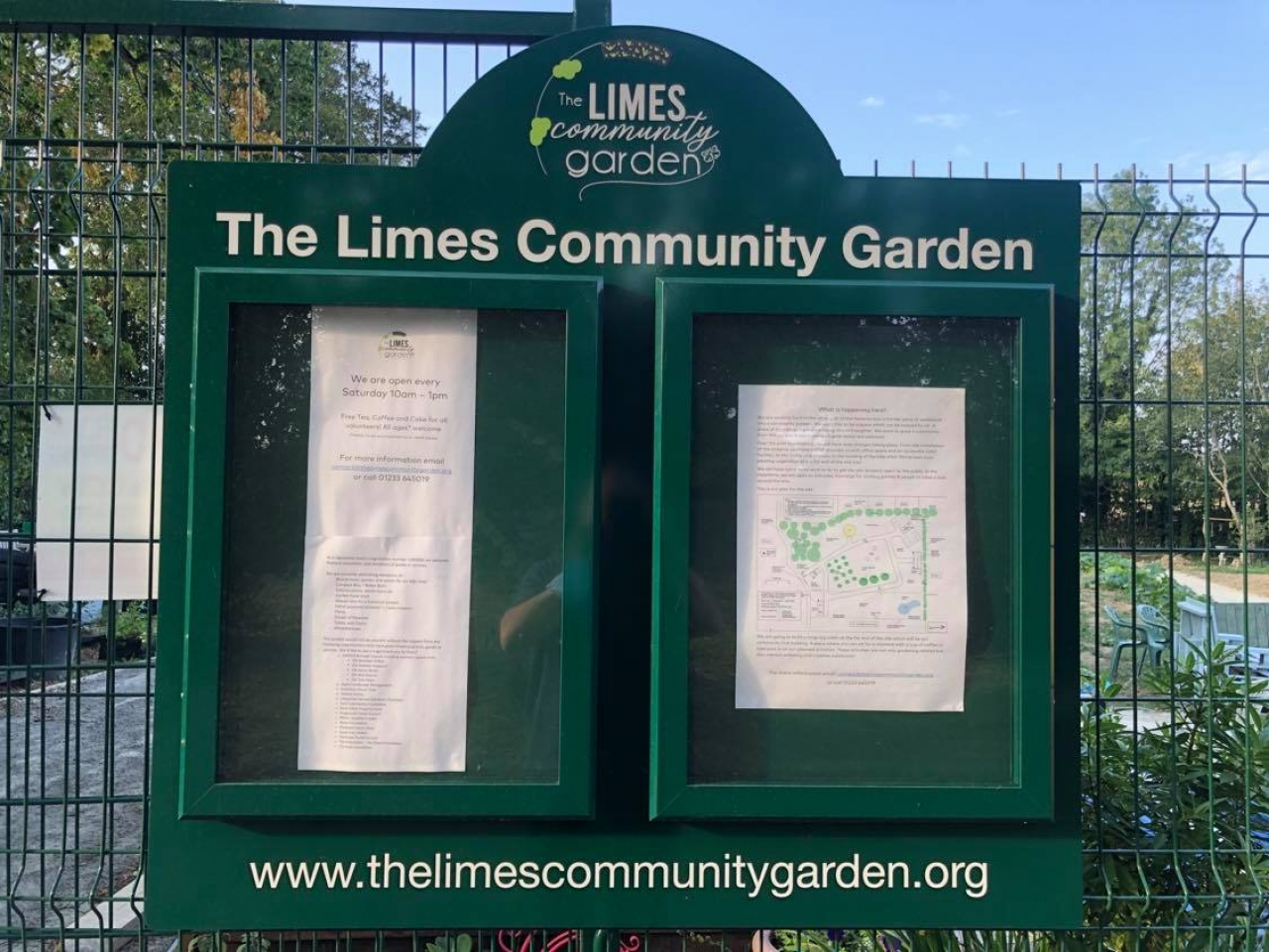 >The Limes Community Garden