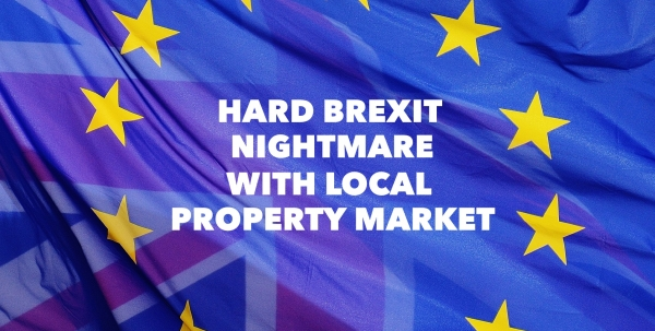 Hard Brexit could cause 2,100 properties to be dumped onto the local Property ma