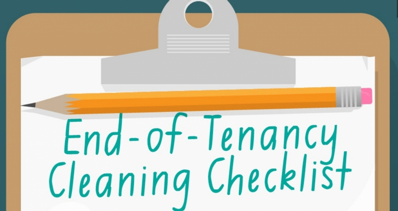 >End of Tenancy Checklist