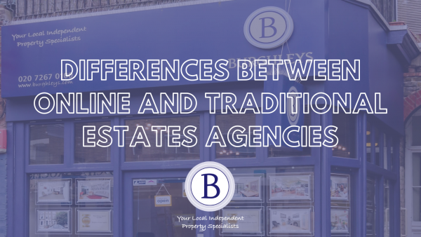 How does a traditional high street estate agency compare to an online agency?