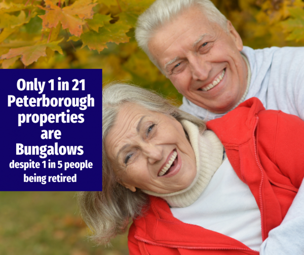 Only 1 in 21 Peterborough Properties are Bungalows, Despite an Ageing Population