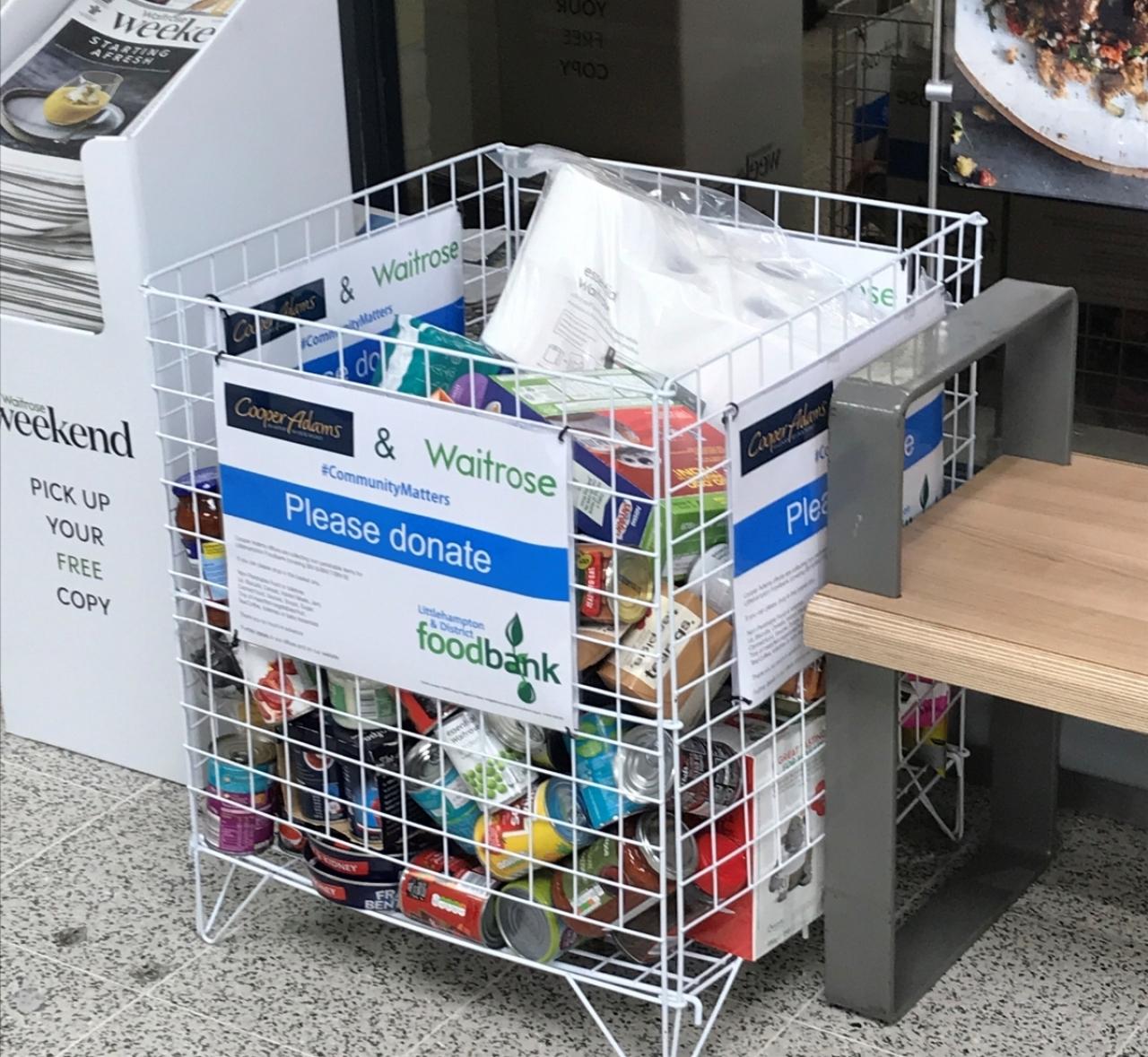 Supporting Littlehampton & District Foodbank with Waitrose Rustington