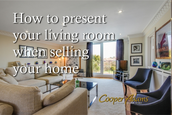 How to present your living room when selling your home