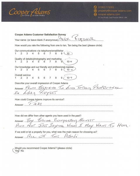 Customer Satisfaction Survey Alex Ripsher