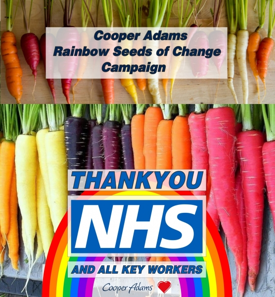 Cooper Adams Rainbow Seeds of Change Campaign