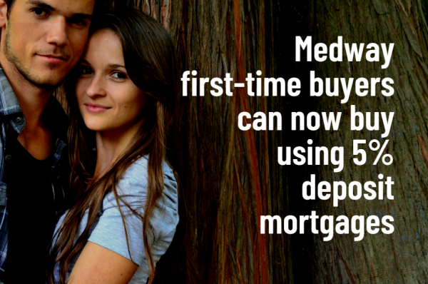 Medway First-time Buyers Can Now Buy Using 5% Deposit Mortgages
