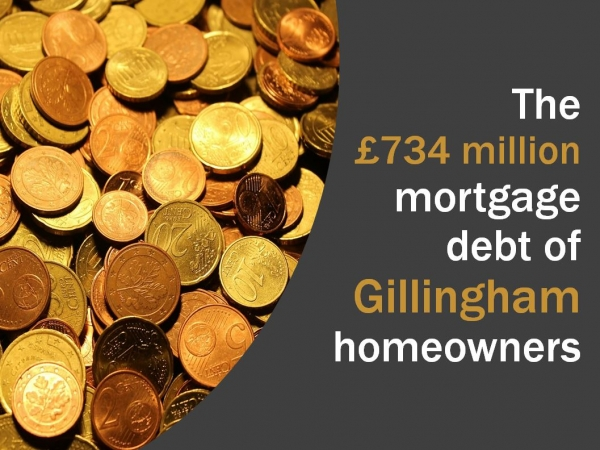 The £734 million mortgage debt of Gillingham homeowners