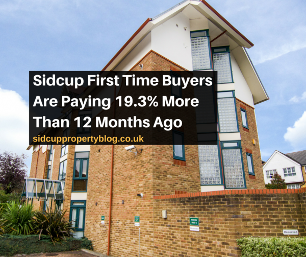 Sidcup First Time Buyers Are Paying 19.3% More Than 12 Months Ago