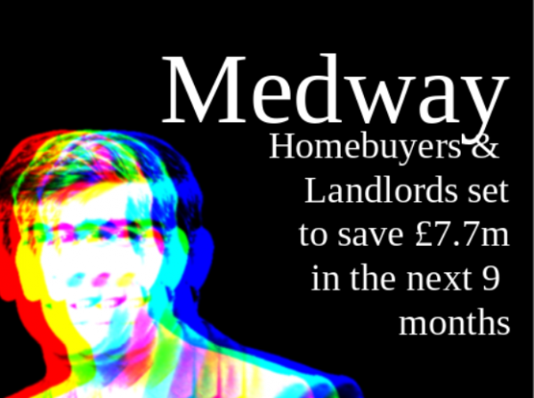Medway Home Buyers & Landlords Set to Save £7,711,950 in Stamp Duty Over Next Ni