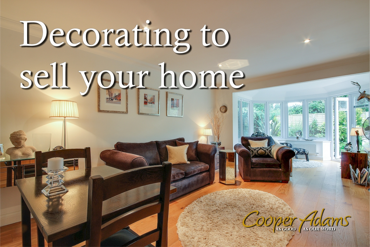 >Decorating to sell your home