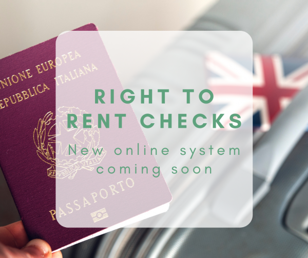 Right to Rent checks: finally moving to online platform