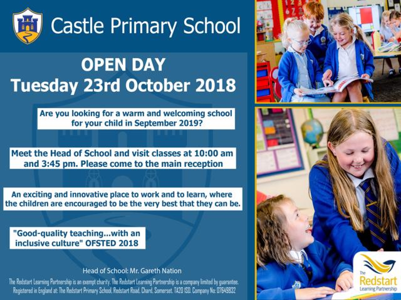 >Open Day: Castle Primary School, Stoke sub Hamdon