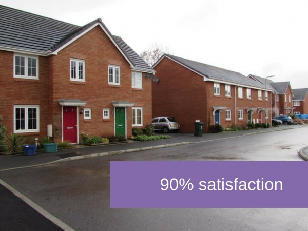 90% satisfaction rate in the Welsh rental sector