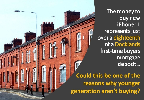 The money to buy a new iPhone11 represents just over an eighteenth of a Dockland
