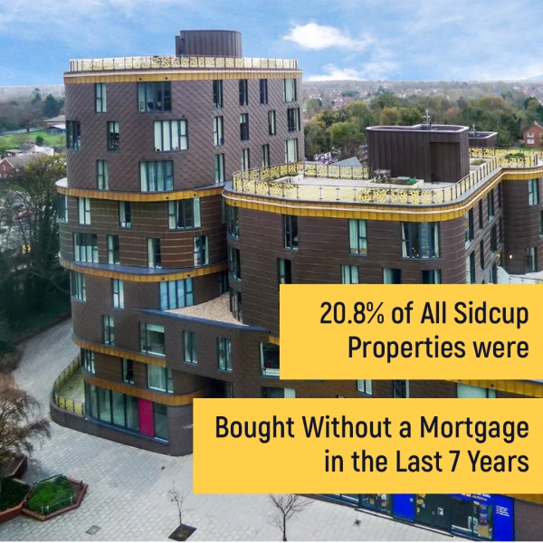 20.8% of All Sidcup Properties were Bought Without a Mortgage in the Last 7 Year