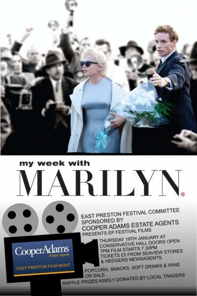 East Preston Film Night sponsored by Cooper Adams Estate  - My Week with Marilyn
